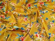 Lady McElroy Stretch Cotton Twill Fabric  Old Gold