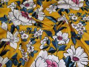 Lady McElroy Stretch Cotton Twill Fabric  Mustard