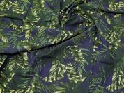 Lady McElroy Stretch Viscose Crepe Fabric  Navy Blue