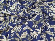 Lady McElroy Cotton Lawn Fabric  Deep Blue