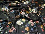 Lady McElroy Velvet Knit Fabric  Black
