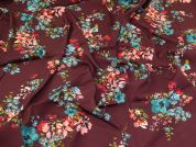 Lady McElroy Stretch Viscose Crepe Fabric  Mulberry