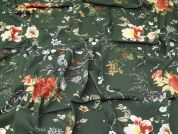 Lady McElroy Stretch Viscose Crepe Fabric  Green