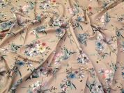 Lady McElroy Stretch Viscose Crepe Fabric  Sand