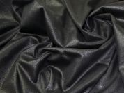 Lady McElroy Lurex Finish Coating Fabric  Black