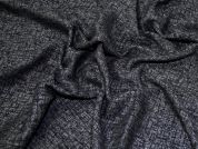 Lady McElroy Tweed Coating Fabric  Black & Grey