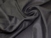 Lady McElroy Wool Coating Fabric  Charcoal Grey