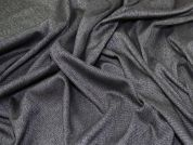 Lady McElroy Wool Suiting Fabric  Black & White