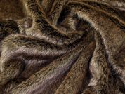 Lady McElroy Luxury Fur Fabric  Brown