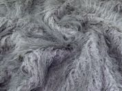 Lady McElroy Long Pile Fur Fabric  Grey