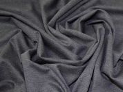 Lady McElroy Ponte Roma Jersey Fabric  Charcoal Marl Grey