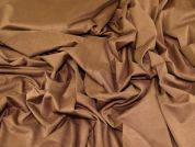 Lady McElroy Stretch Faux Suede Fabric  Brown