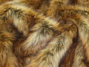 Lady McElroy Long Pile Fur Fabric  Ginger