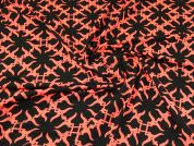 Lady McElroy Viscose Jersey Knit Fabric  Black & Neon