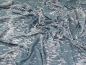 Lady McElroy Burn Out Jersey Knit Fabric  Ocean