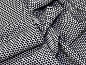 Lady McElroy Stretch Suiting Fabric  Black & White