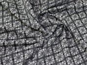 Lady McElroy Jacquard Suiting Fabric  Black & Ivory
