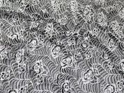 Lady McElroy Cotton Lace Fabric  Black & White