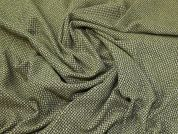 Lady McElroy Tweed Suiting Fabric  Black & Yellow