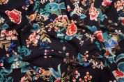 Lady McElroy Lena Crepe Fabric  Navy