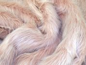 Lady McElroy Long Pile Fur Fabric  Blush Pink