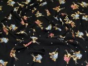 Lady McElroy Polyester Georgette Fabric  Black