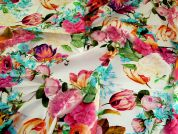 Lady McElroy Cotton Lawn Fabric  Multicoloured