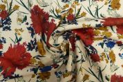 Lady McElroy Linen Viscose Fabric  Multicoloured