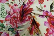Lady McElroy Linen Viscose Fabric  Pink