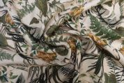 Lady McElroy Linen Viscose Fabric  Green