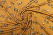 Lady McElroy Crepe Jersey Knit Fabric  Gold