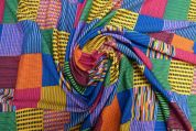 Lady McElroy Crepe Jersey Knit Fabric  Multicoloured