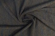 Lady McElroy Wool Mohair Coating Fabric  Brown & Grey