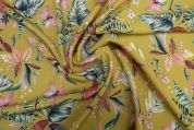 Lady McElroy Lena Crepe Fabric  Gold