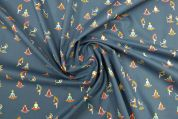 Lady McElroy Marlie Cotton Lawn Fabric  Blue