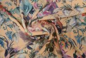 Lady McElroy Stretch Bubble Crepe Fabric  Multicoloured