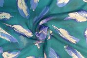 Lady McElroy Silk Crepe De Chine Fabric  Turquoise