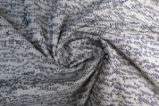 Lady McElroy Textured Jacquard Fabric  Navy
