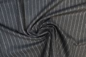Lady McElroy Wool Suiting Fabric  Grey