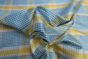Lady McElroy Silk Dupion Fabric  Yellow & Turquoise