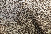 Lady McElroy Polyester Chiffon Fabric  Brown