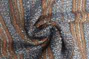 Lady McElroy Textured Knit Fabric  Brown & Grey