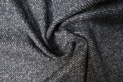 Lady McElroy Alpaca Wool Coating Fabric  Navy Grey