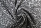 Lady McElroy Textured Wool Coating Fabric  Black & White