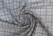 Lady McElroy Brushed Cotton Viscose Fabric  Blue