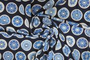 Lady McElroy Cotton Jersey Knit Fabric  Blue