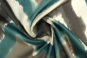 Lady McElroy Cotton Sateen Fabric  Jade & Grey