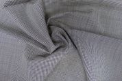 Lady McElroy Wool Suiting Fabric  Black & Cream