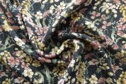 Lady McElroy Florenza Slub Crepe Fabric  Multicoloured