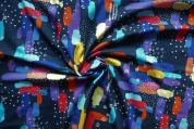 Lady McElroy Crepe Textured Knit Fabric  Multicoloured
